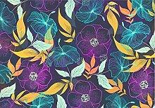 TapeteFototapete 3D Effekt Farblinie Blumen 3D