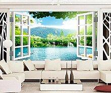 Tapete Fototapete 3D Effekt Fenster Landschaft
