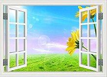 Tapete Fototapete 3D Effekt Fenster Prärieblume
