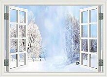 Tapete Fototapete 3D Effekt Fenster