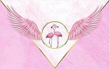 Tapete Fototapete 3D Effekt Flamingo mit
