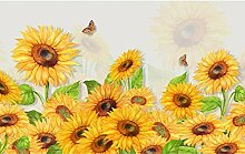 Tapete Fototapete 3D Effekt Gelbe Sonnenblume