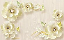Tapete Fototapete 3D Effekt Geprägte Schmuckblume