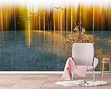 Tapete Fototapete 3D Effekt Goldener Waldvogelelch