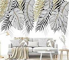 Tapete Fototapete 3D Effekt Goldenes Bananenblatt