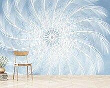 TapeteFototapete 3D Effekt Handbemalt Federblau