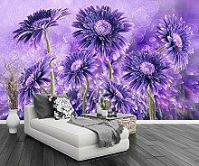 Tapete Fototapete 3D Effekt Lila Blütenblätter