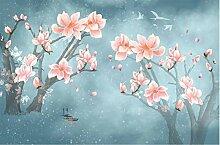 Tapete Fototapete 3D Effekt Magnolia Blumen Rosa