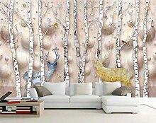 Tapete Fototapete 3D Effekt Marmor Birkenwald