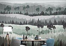Tapete Fototapete 3D Effekt Moderne Waldgipfel Mit