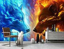 Tapete Fototapete 3D Effekt Persönlichkeit Feuer