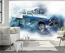 Tapete Fototapete 3D Effekt Retro Graffiti Auto