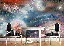 Tapete Fototapete 3d Effekt Sternenhimmel-Galaxie