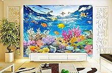 Tapete Fototapete 3D Effekt Unterwasserwelt Mit