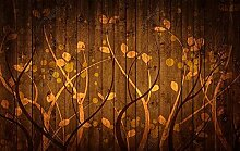 Tapete Fototapete 3D Effekt Vintage Pflanze Mit