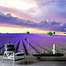Tapete Fototapete 3D Lavendel Blumen Wandbilder