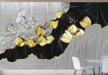 Tapete Fototapete 3D Moderne Stilvolle Goldene