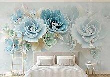 Tapete Fototapete 3D Wandbild Geprägte Blumen