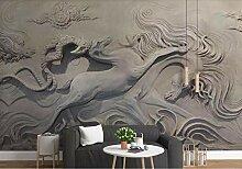 Tapete Fototapete 3D Wandbild Waldelch Relief