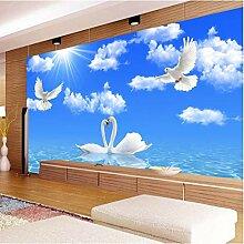 Tapete Fototapete Blau Himmel Weiß Wolken Natur