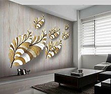 Tapete Fototapete Golden Leaf Textur Frisch