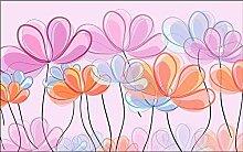 Tapete Fototapete Rosa Blüten Mit Frischen Linien