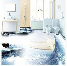 Tapete Für Badezimmer Wasserdicht Sea 3D Boden