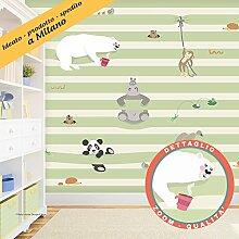 Tapete für die Kinderzimmer-Die 2500grün