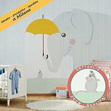 Tapete für die Kinderzimmer–Federico & Giulietta