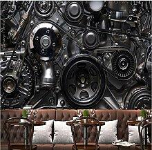 Tapete für industrielle Maschinen, Metall, 3D,