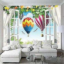 Tapete für Kinderzimmer Fenster Landschaft