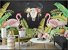 Tapete für Kinderzimmer Flamingos tropischen