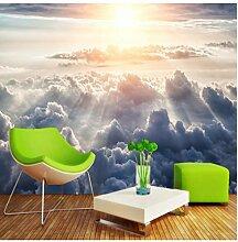 Tapete für Kinderzimmer Sonne durch die Wolken