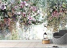 Tapete für Kinderzimmer Wandbild Nordische Blumen