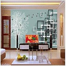 Tapete Für Wände 3 D Abstrakt Wald Vögel