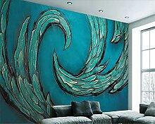 Tapete für Wände 3 d Blaue abstrakte Muster im