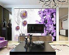 Tapete für Wände 3 d Europäische Ästhetik lila