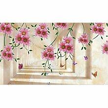 Tapete für Wände 3 d Fototapete Rosa Traumblume