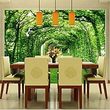 Tapete Für Wände 3 D Grünen Wald Baum Rasen 3D