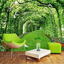 Tapete Für Wände 3 D Grünen Wald Baum Rasen
