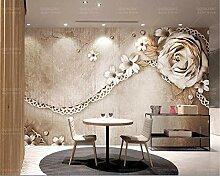 Tapete für Wände 3 d Luxuriöse Vintage Rose