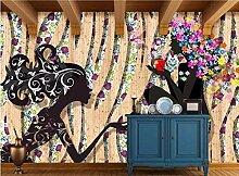Tapete für Wände 3 d Mode Kunst Bar Friseursalon