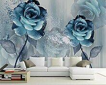 Tapete für Wände 3d Aquarell blau Enchantress