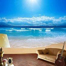 Tapete Für Wände 3D Blue Sky Ocean Beach Vlies