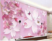 Tapete Für Wände 3D Blumen Schmetterling 3D Foto