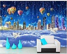Tapete Für Wände 3D Fantasie Starry Stadt Wolke