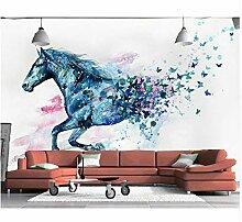 Tapete Für Wände 3D Handgemalte Aquarell Pferd