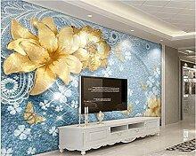 Tapete für Wände3D Luxus Gold Schmuck