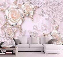 Tapete Für Wände 3D Rosa Blume Wandbild