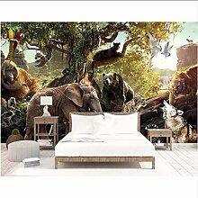 Tapete für Wände3D Waldtiere Foto Wandbild
